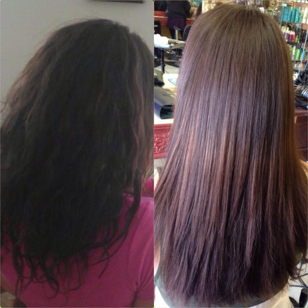 Before and after keratin treatment yelp for Salon kerat in