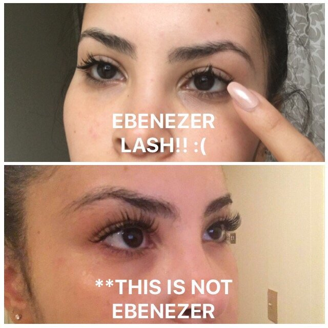 Above Is Ebenezer Application Below Are Properly Applied Lashes