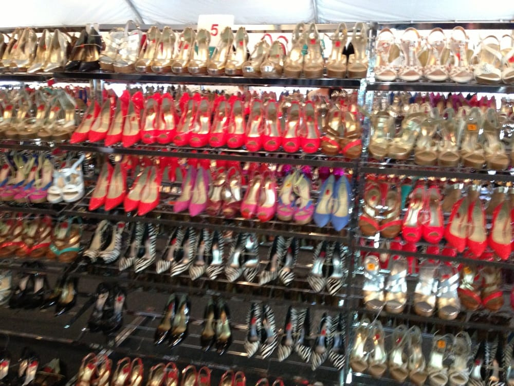 row and rows of shoes for 15 yelp