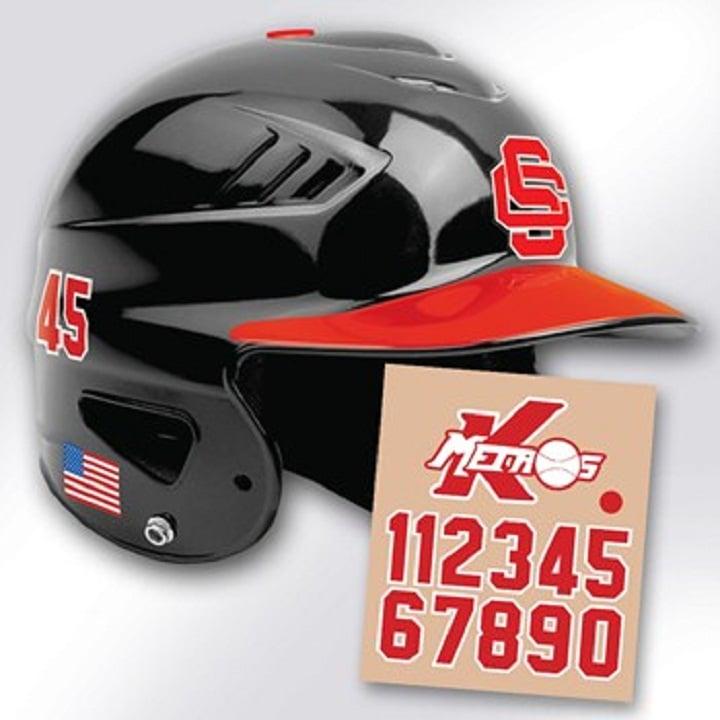 Custom Baseball Helmet Decals And Stickers Yelp - Custom motorcycle helmet stickers custom