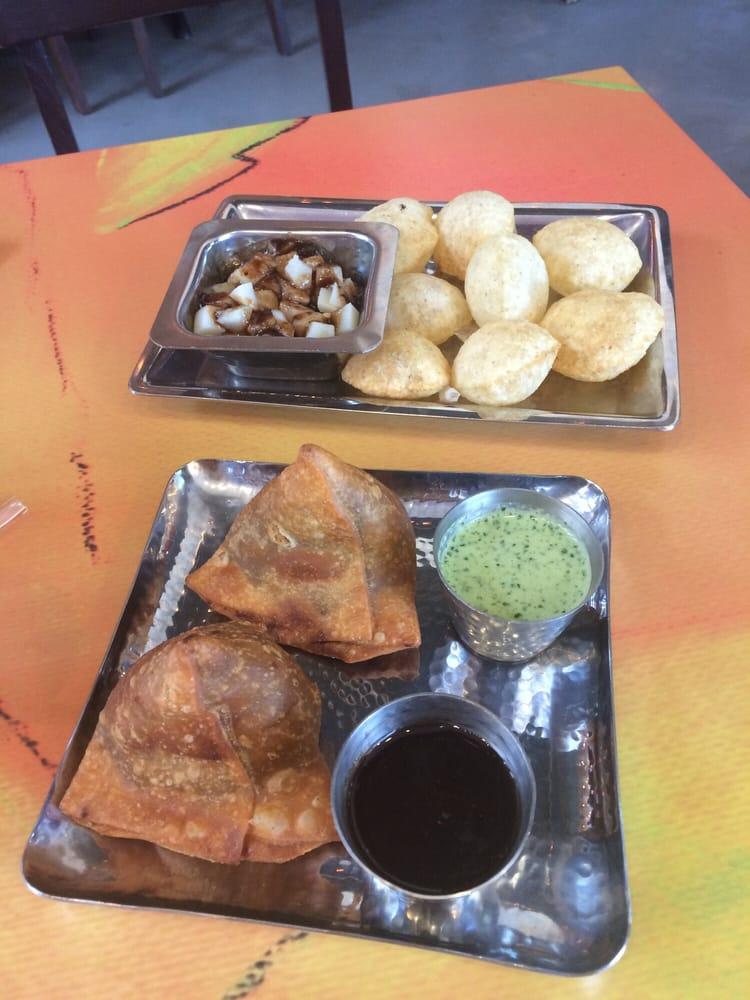 Samosa and golgappa and papadi chaat yummy yelp for Angeethi indian cuisine leesburg va