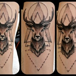 ccf3e2f2bf3fb Photo of The Twisted Jester Tattoo Studio - Leicester, United Kingdom.  Stag's head by