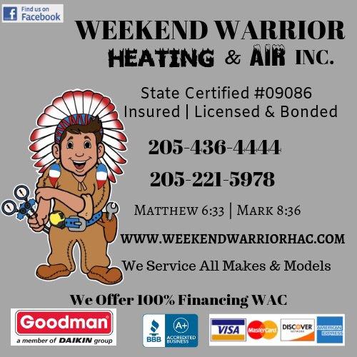 Weekend Warrior Heating & Air: 1751 N Walston Bridge Rd, Jasper, AL