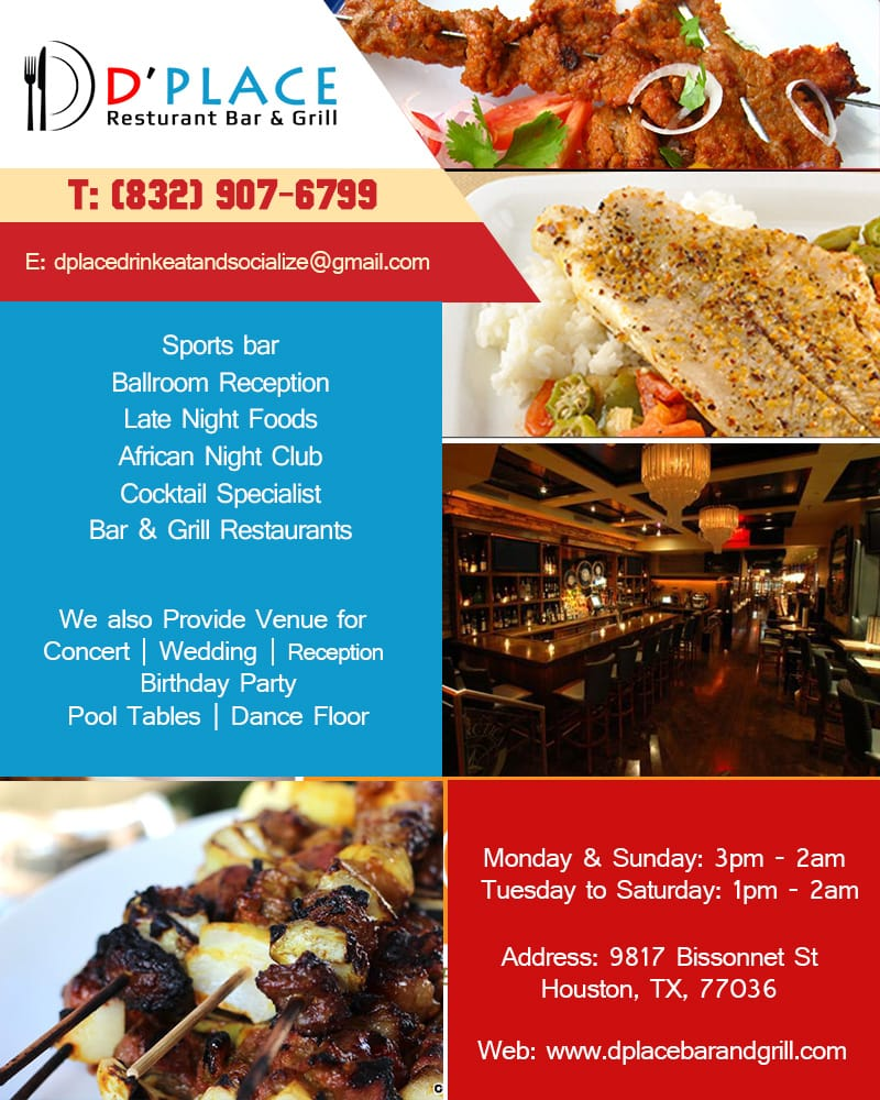 D Place Restaurant Grill Sports Bars 9817 Bissonnet St Westwood Houston Tx Reviews Phone Number Menu Yelp