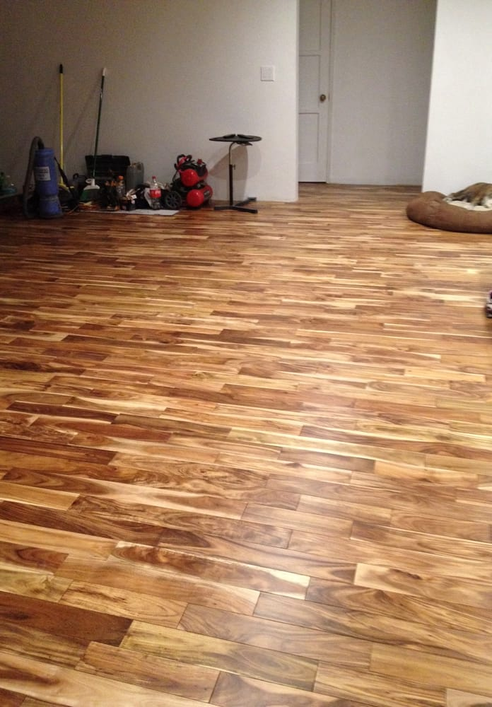 Teejaekaes new floor tobacco road acacia thanks armando for Tobacco road acacia wood flooring