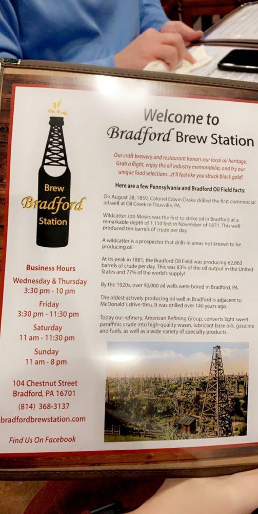 Bradford Brew Station: 104 Chestnut St, Bradford, PA