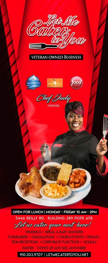 Let Me Cater To You: 5446 Reilly Rd, Pope Army Airfield, NC