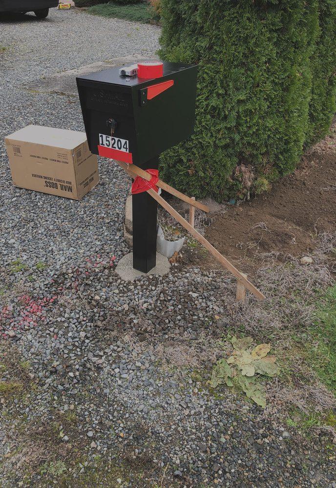 Armored Locking Mailbox Installations: 15819 72nd St SW, Longbranch, WA