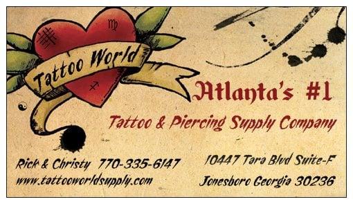 Tattoo World Supply: 10447 Tara Blvd, Jonesboro, GA