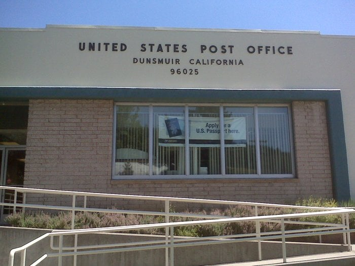 US Post Office: 5530 Dunsmuir Ave, Dunsmuir, CA