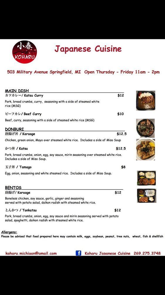 Koharu Japanese Cuisine: 25 McCamly St S, Battle Creek, MI