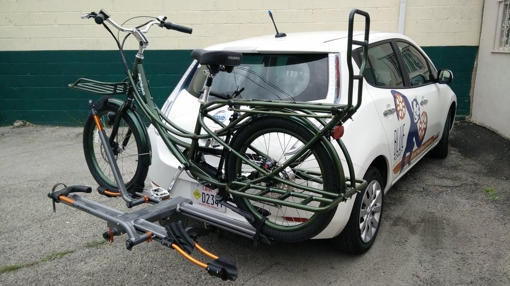 Pedego Stretch On A Kuat Bike Rack On A Nissan Leaf Yelp