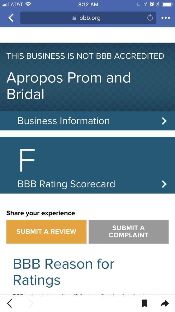 Apropos Prom & Bridal: 1801 Western Ave, Albany, NY