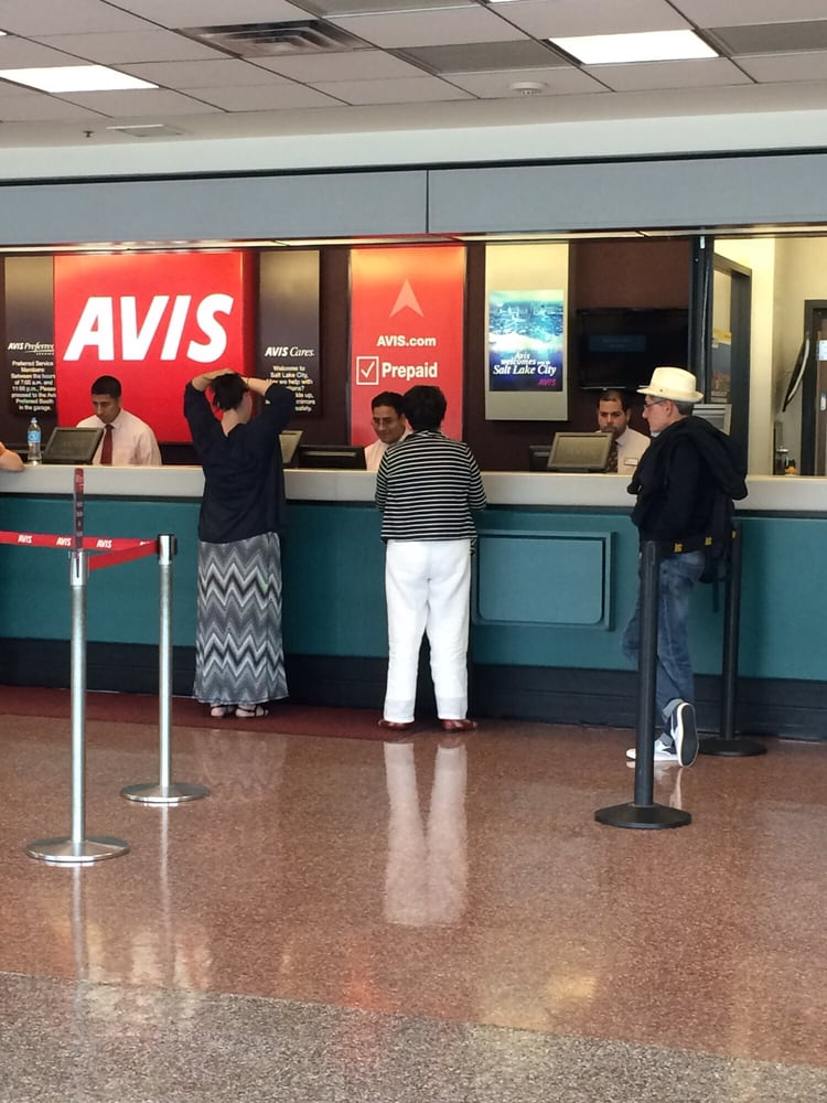 Avis Salt Lake City Airport Rental Desk Prepaid Rental