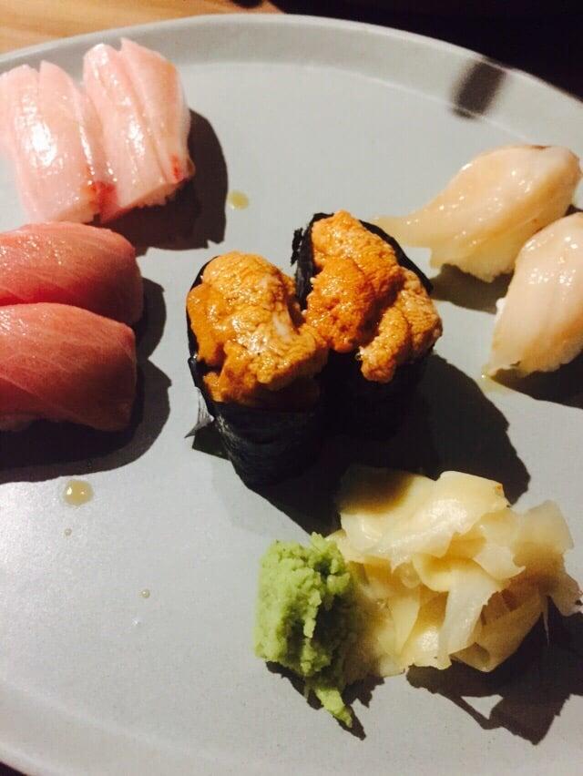 Hamachi, giant clam, uni and toro. - Yelp  Giant