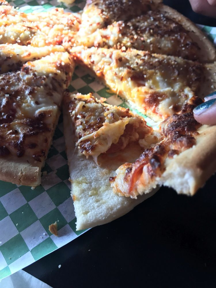 The pizza was.... interesting. I would never pay 10 bucks for this ...