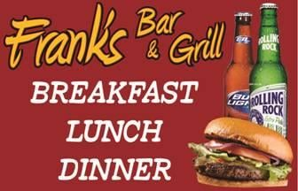 Frank's Bar & Grill: 8501 County Rd 22A, Bloomingdale, OH