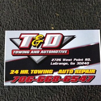 T d towing and automotive towing 3140 w point rd lagrange ga photo of t d towing and automotive lagrange ga united states colourmoves