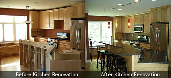 condo kitchen renovation before and after yelp