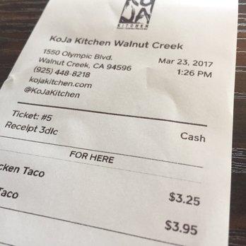 Koja Kitchen Menu Walnut Creek