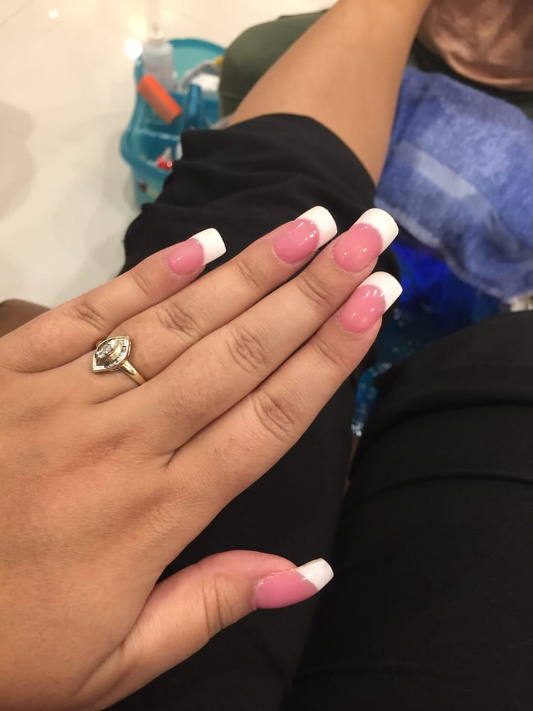 My Fresh Pink And White Full Set French Pedi In Progress Too First
