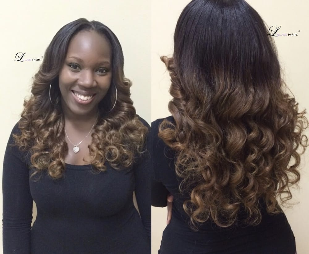 Traditional Sew Inbrown Blonde Ombr Colorloose Curls With Natural