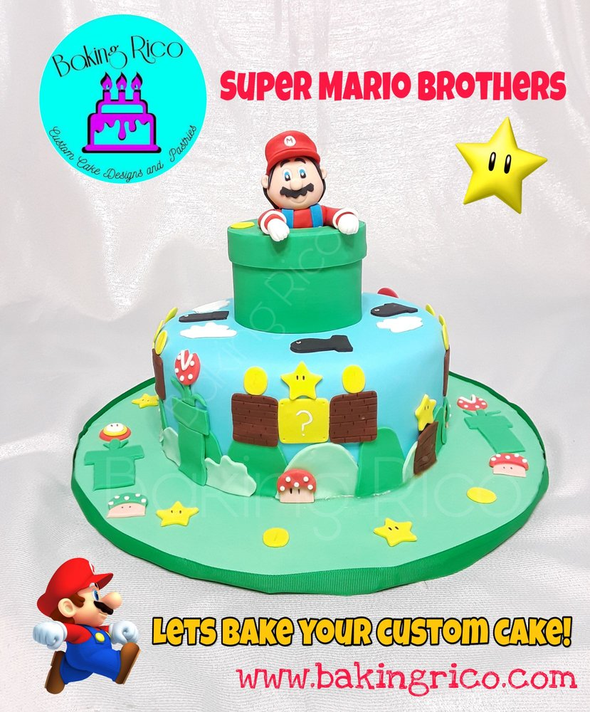 Custom Birthday Cake Of Super Mario Want To Celebrate Something