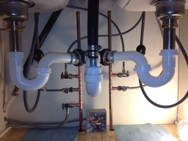 photo of moody plumbing chicago il united states finished plumbing under kitchen - Kitchen Sinks Installation