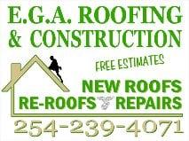 EGA Roofing and Construction: 560 N Main St, Salado, TX