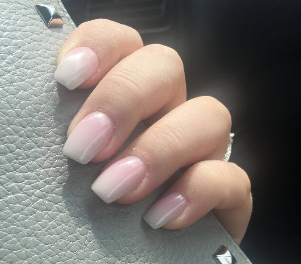 My wedding nails. French ombre by long. Perfect!! - Yelp
