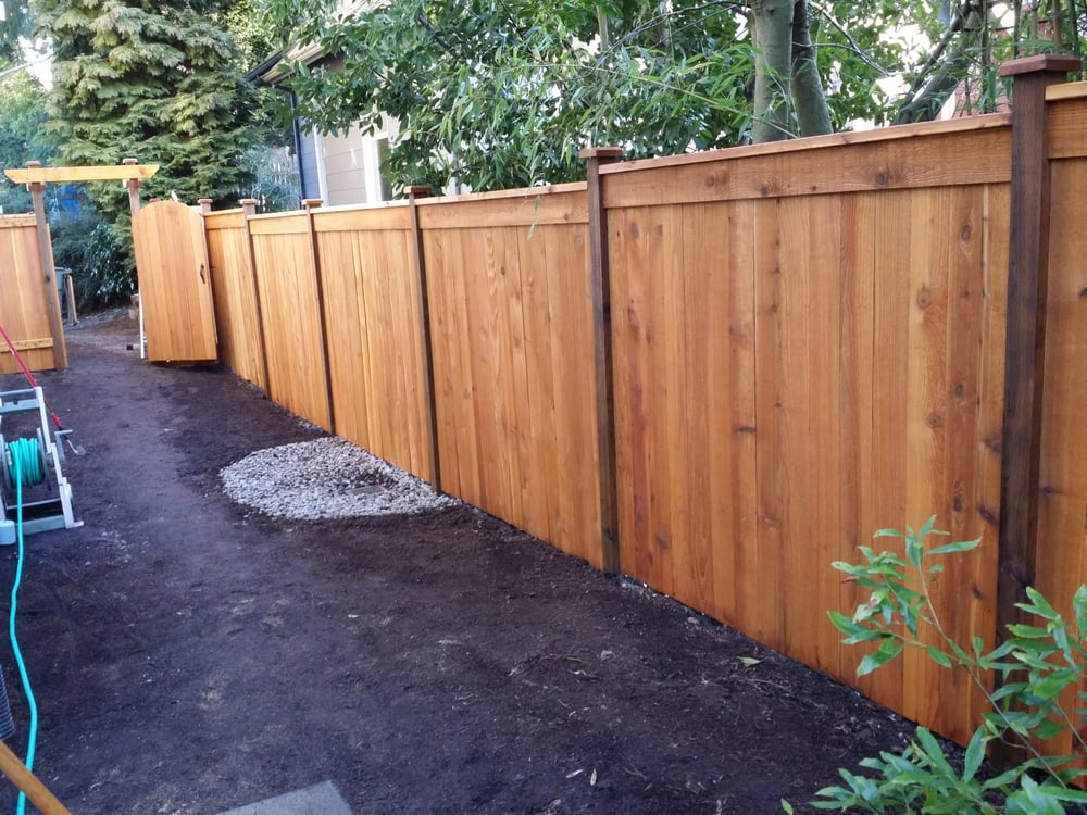French Drain At Low Point Of Yard Modified Panel Fence