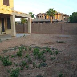 Photo Of Lopez Landscaping Wittmann Az United States Backyard Before