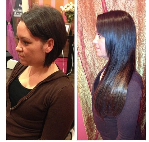 Tape hair extension go from short to long in 90 mins yelp photo of danyel nicole beauty chicago il united states tape hair extension pmusecretfo Image collections