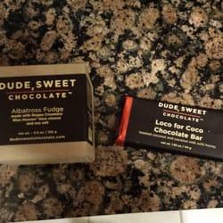 Dude, Sweet Chocolate logo