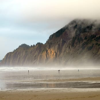 Photo Of Manzanita Beach Or United States Winter Morning In