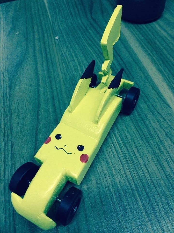 attic member project pikachu pinewood derby car yelp. Black Bedroom Furniture Sets. Home Design Ideas