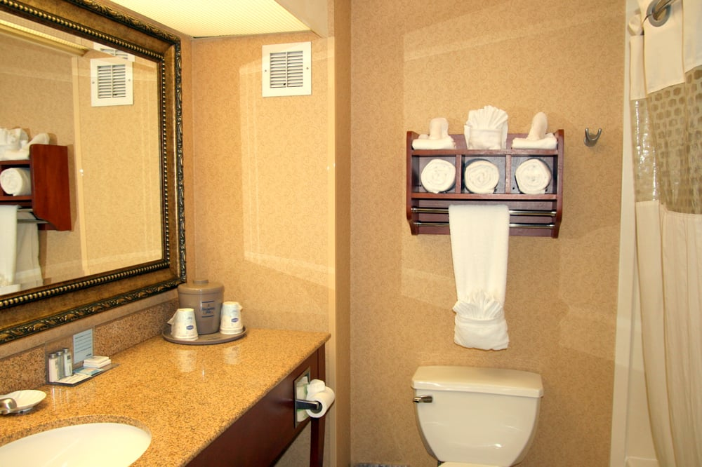 Luxury Granite Bathroom At The Hampton Inn Santa Cruz Yelp
