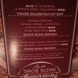 Photo Of Olive Garden Italian Restaurant   Eatontown, NJ, United States.  Never Ending