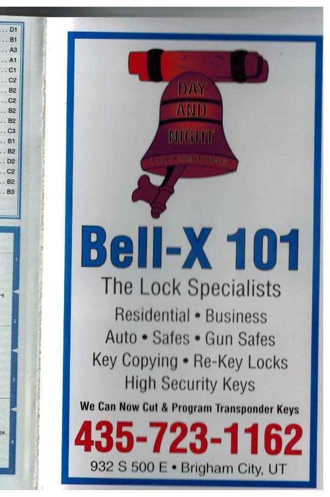 Bell-X 101 Locksmithing: 932 S 500th E, Brigham City, UT