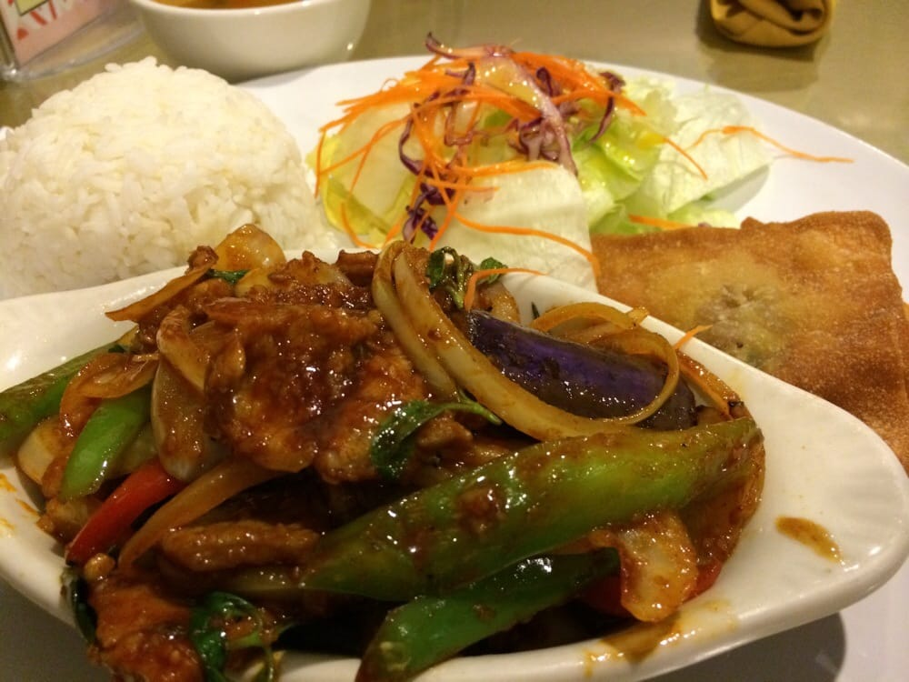 Lunch special spicy eggplant with beef yelp for Angel thai cuisine glendale