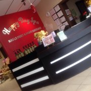 Here's the menu Photo of Happy Day Spa - Norfolk, VA, United States. Front  desk.