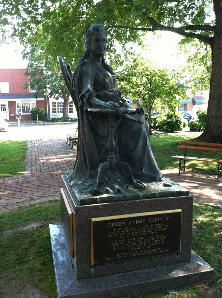 Queen Anne's Statue: 101 Lawyers Row, Centreville, MD