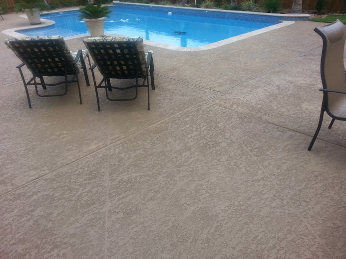 how to keep concrete cool around a pool