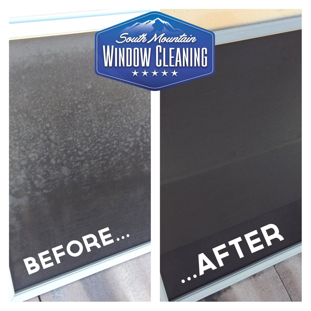 how to clean window screens in place