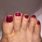 Photo Of Modern Nail Studio Mclean Va United States Smudged Pedi At
