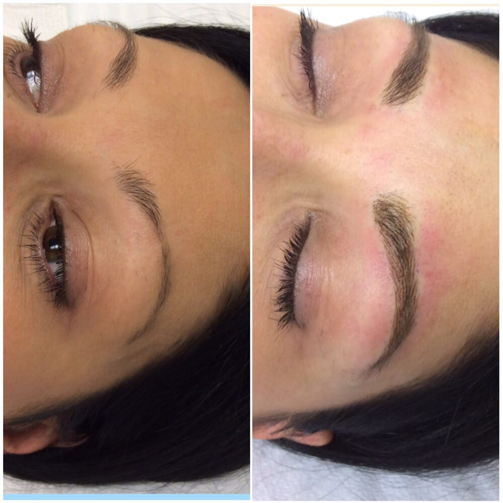 Enhanced Sparse Eyebrows With Microblading And Phibrow Technique Yelp