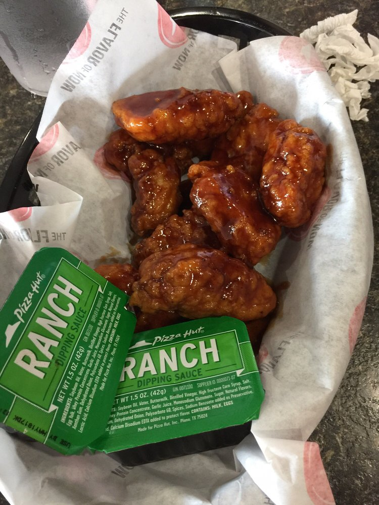 Boneless honey BBQ wings with ranch dips - Yelp
