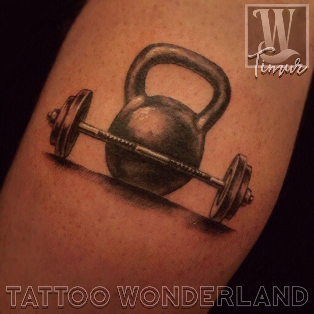 kettlebell barbell tattoo timur zakiev tattoos tattoowonderland youbelongattattoowonderl. Black Bedroom Furniture Sets. Home Design Ideas