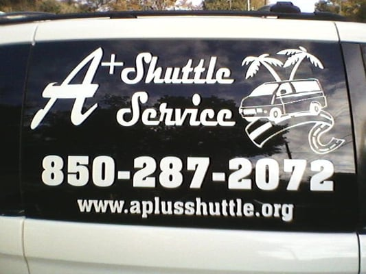 Photo of aplus shuttle service pensacola fl united states window of shuttle