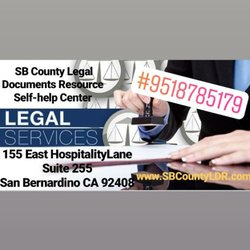 SB County Legal Documents Resource Selfhelp Center Legal Services - Help with legal documents